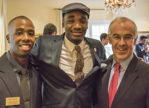 "A fellow DePuaw student, Political science major Omobolaji ""BJ"" O. Teriba '15, and New York Times columnist David Brooks"