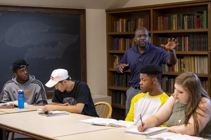 Professor Oware in class