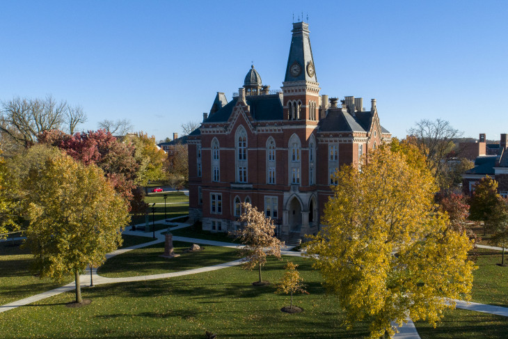 East College on a bright day