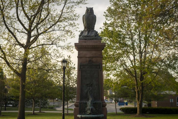 owl statue near East College