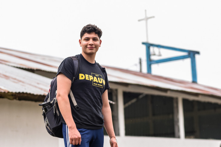 A student stops for a photo during the 2019-2020 Timmy Global Health trip.