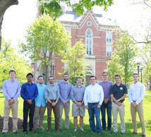 Interfraternity Council in front of East College