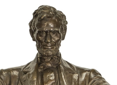 Recently restored maquette Abraham Lincoln