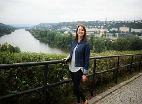 Anna Savery '18 in the Czech Republic