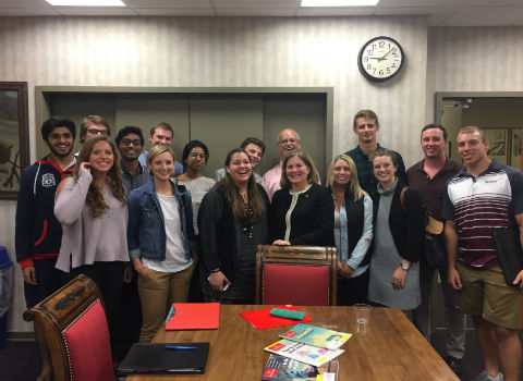 Economics students at Wabash College for the 2016 Rogge Memorial Lecture