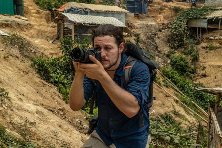 Ben Solomon shoots video in Rohingya