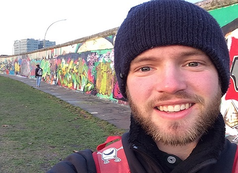 Ty Frost ('15) in Germany at the Berlin Wall