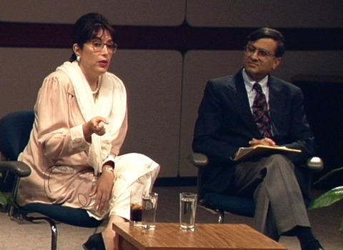 Benazir Bhutto visiting DePauw