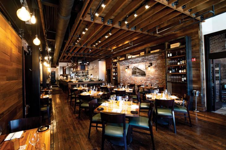 Interior of Bridges Craft Pizza & Wine Bar