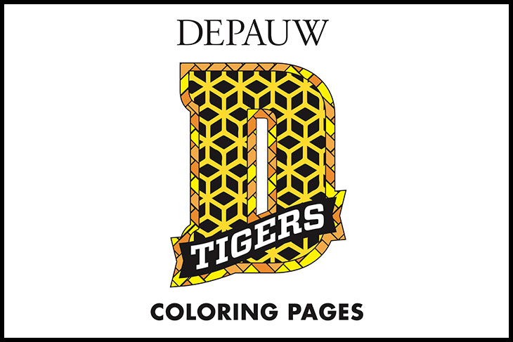 DePauw D Tigers Coloring Pages