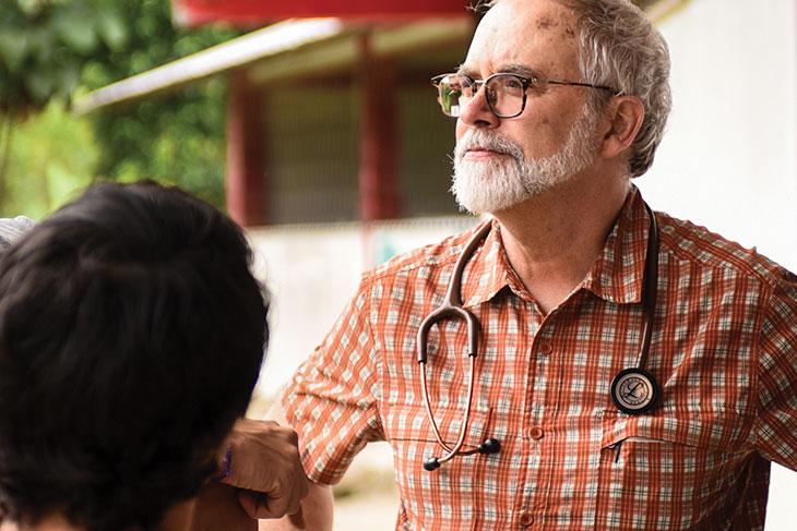 Jeffery jones wearing stethoscope