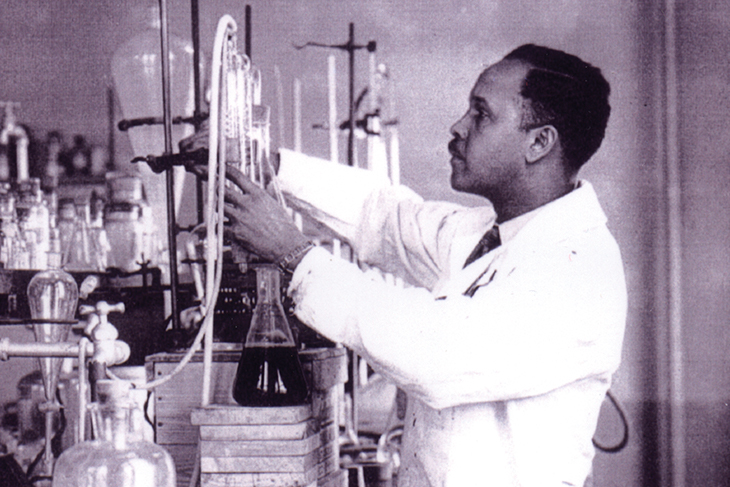 Percy Julian in the lab