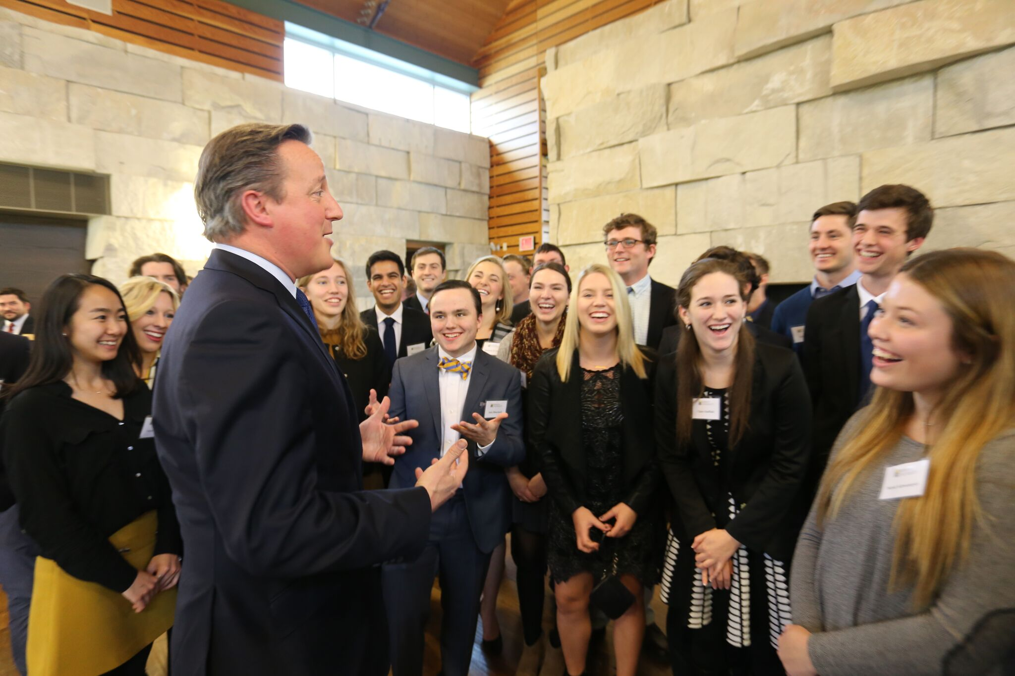 David Cameron held a forum with DePauw students before his Dec. 8, 2016 Ubben Lecture.