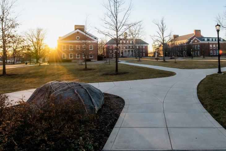 Campus at sunset