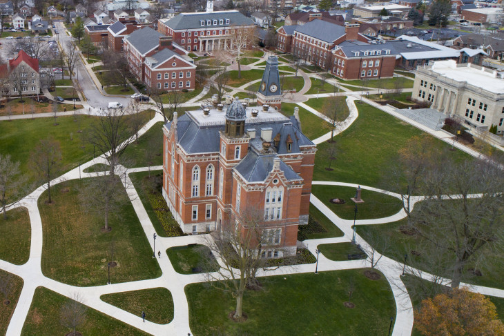Photo of East College Lawn by drone.