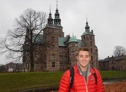 Charles Roberts ('16) interning in Copenhagen, Denmark at Rosenborg castle