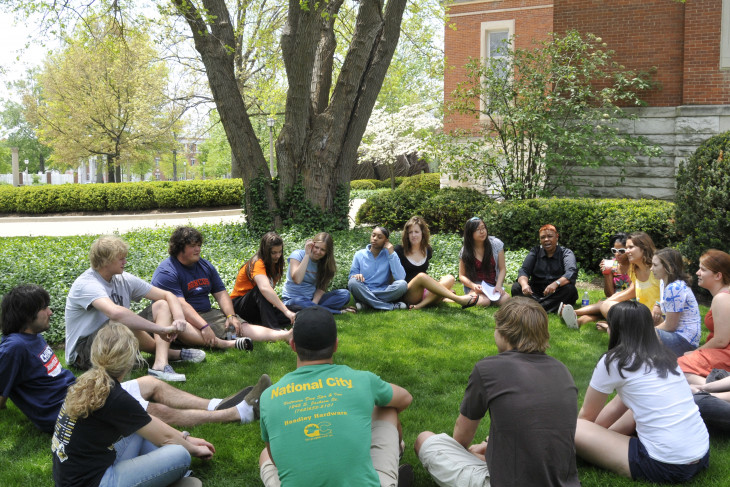 Class circle on East College lawn