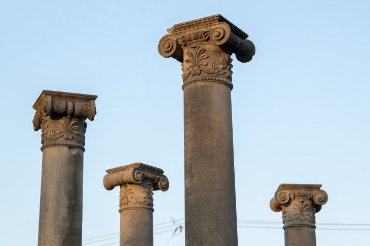 Columns outside Bottoms Center