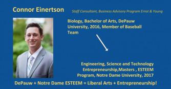 Biology Major - DePauw + Notre Dame ESTEEM Master in Entrepreneurship Graduate