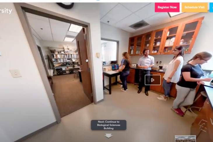 Virtual Tour stop inside a science lab