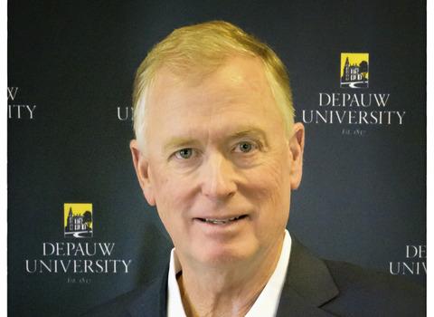Vice President Dan Quayle headshot at DePauw University