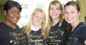 Four female Majors and Minors Travel to the International Grace Hopper Celebration of Women in Computing, October 2-6, 2012.