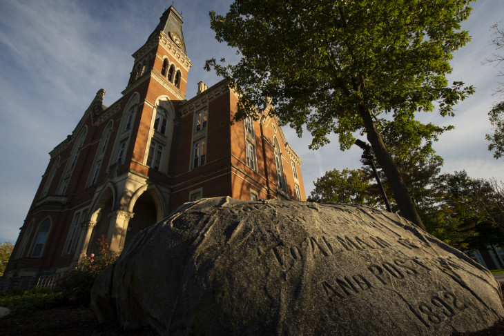 The Boulder in front of East College