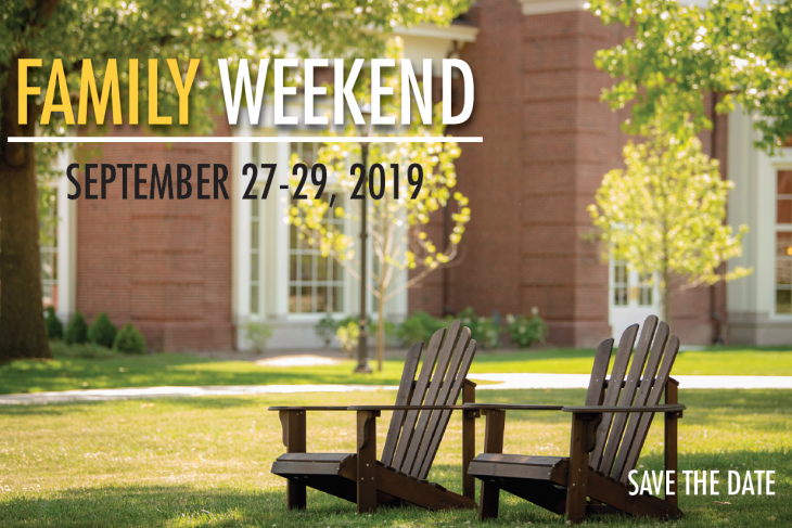 Family Weekend Save the Date Image