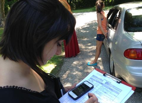 Film Studies student reviewing a script