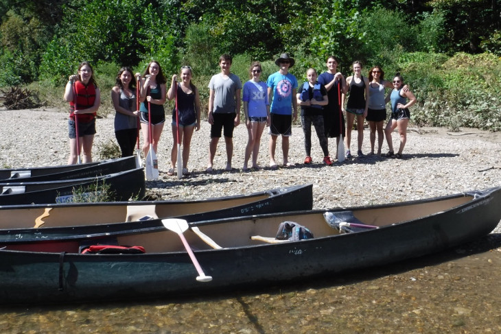 Canoe trip with a student club