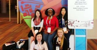 Justine Clarke and Elena Gonzalez win prestigious National Science Foundation scholarships (Fall 2014)