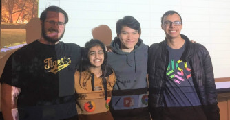 Four Students Win 2nd Annual Data Science Hackathon at Notre Dame (Winter 2019))