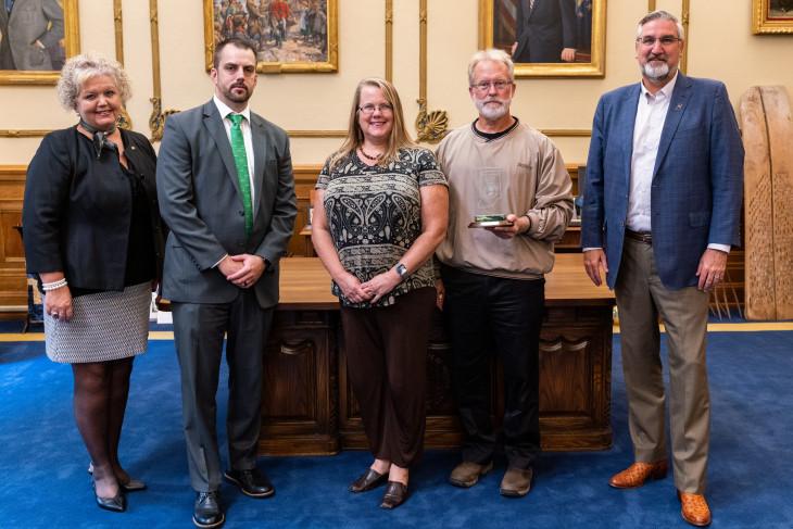 DePauw representatives get environmental award from Gov. Holcomb