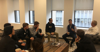 Student visit with Jason Becker, CEO of DYKNOW