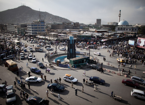 Traffic in Kabul, Afghanistan