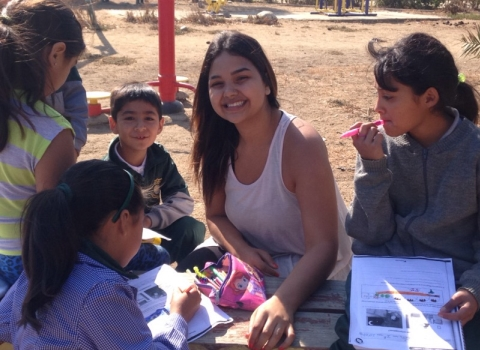 Kim Mendez studying Comparative Education and Social Change in Chile