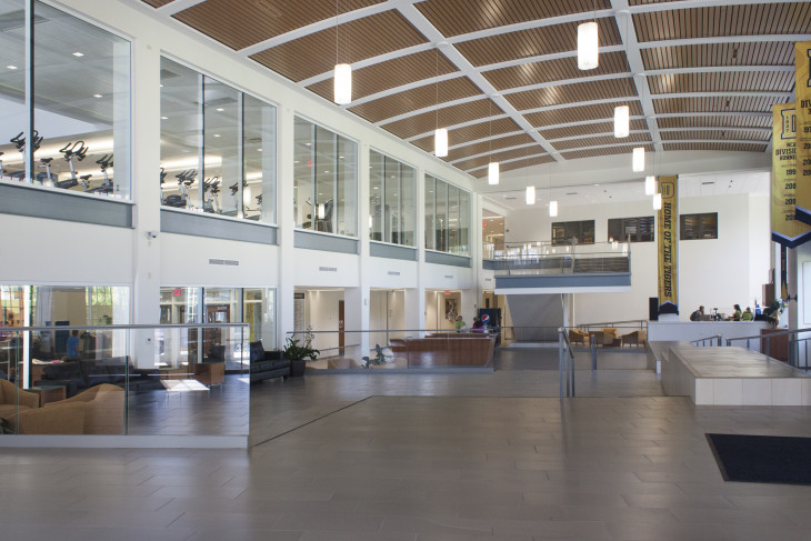 Image of the lobby at the Lilly Center at DePauw