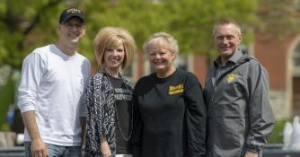 McDermond Center Staff - Professor Jeff Gropp, Sarah Miller, Sandy Smith and Steve Fouty
