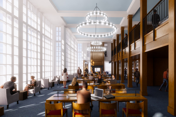 Rendering of the new reading room