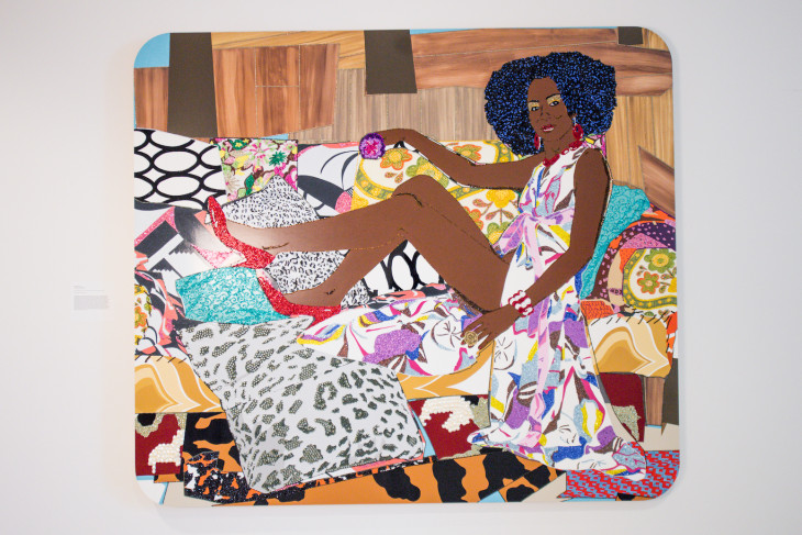 Art exhibit sample from I'm not the Woman You Think I am by MICKALENE THOMAS