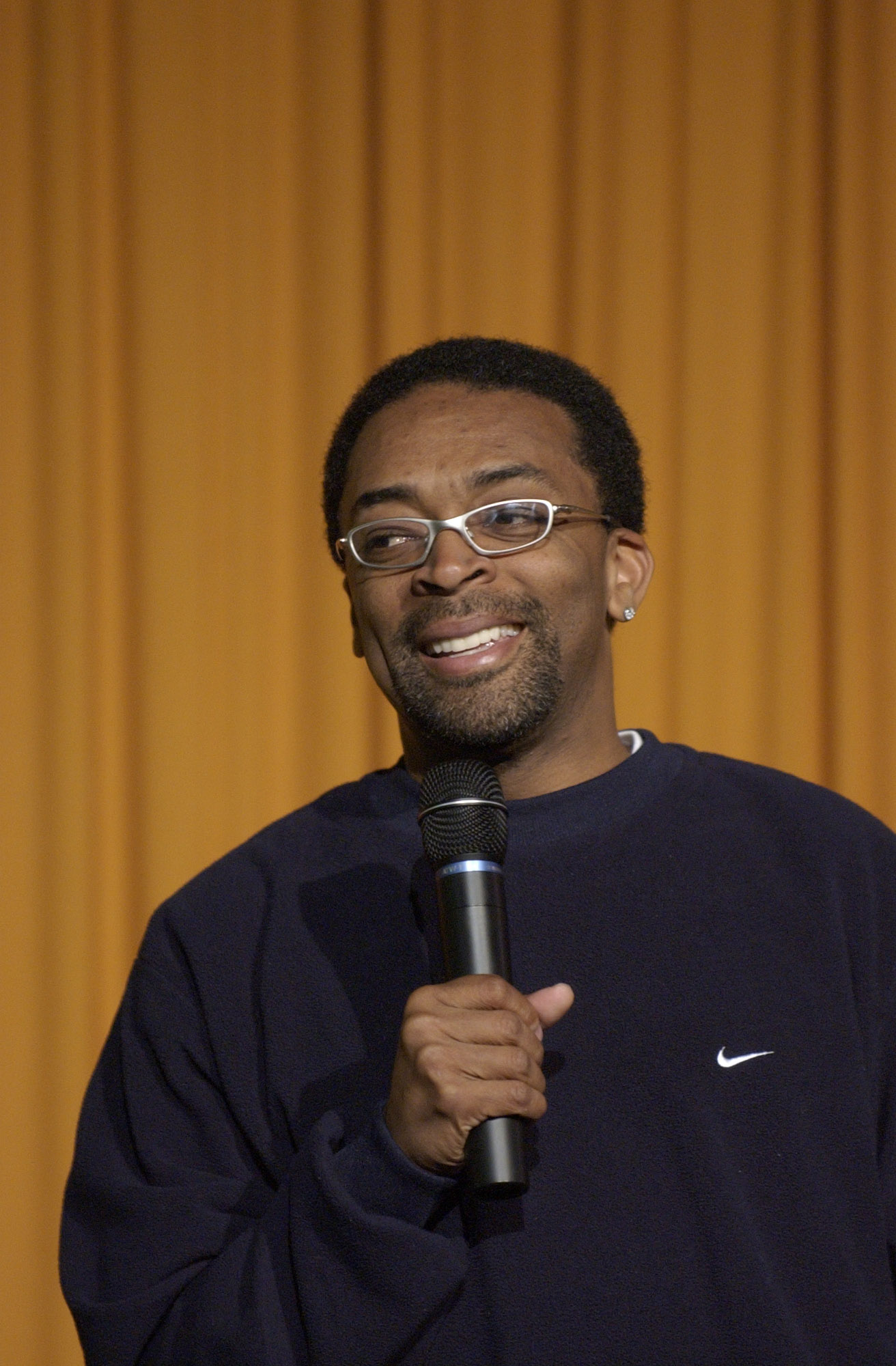 Filmmaker Spike Lee at DePauw in April 2003.