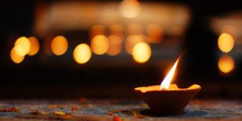Candle amid candlelight