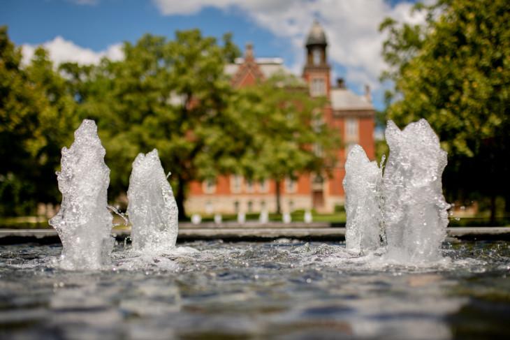 Stewart Plaza fountains