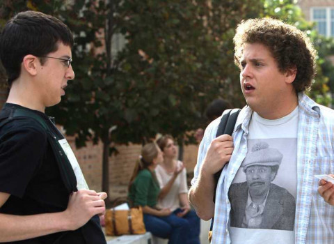"Christopher Mintz-Plasse and Jonah Hill in ""Superbad"""