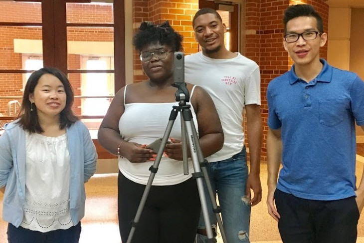 Four students who created Percy Julian website