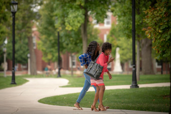 Students walking near East College
