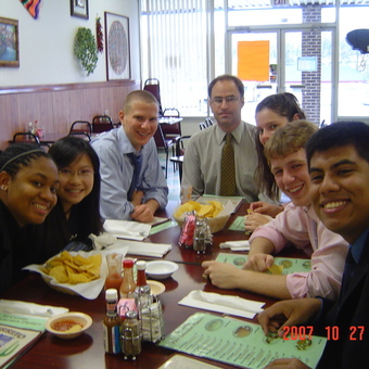 Its Chips and Salsa Time after rounds at the Hillsdale Tournament (2007) in Michigan.