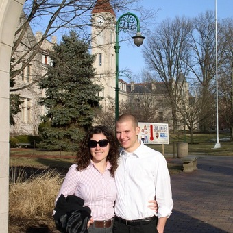 Keelin Kelly and Michael Lutz after their outstanding performance at the Indiana University Lincoln Bicentennial Debates (2009). Kelly advanced to the semi-finals, and Lutz won the tournament.