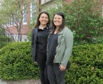 Fulbright winners Jackie Rueda and Kaela Goodwin