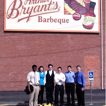 After enjoying some world famous BBQ at Arthur Bryant's in Kansas City, the DePauw Debate Team went on the win the 2012 National Title!